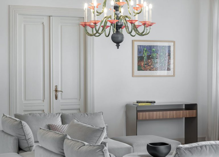Eugene chandelier by Preciosa in Innex showroom by Roman Mlejnek