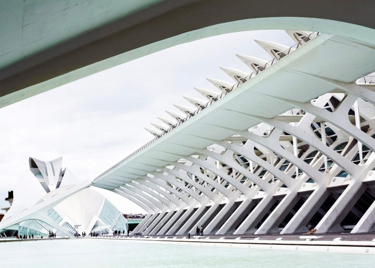 Architectural photography, Santiago Calatrava Opera House in Valencia by Roman Mlejnek.