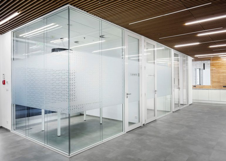 Photography of Novartis office interior for ProInterier, floor.