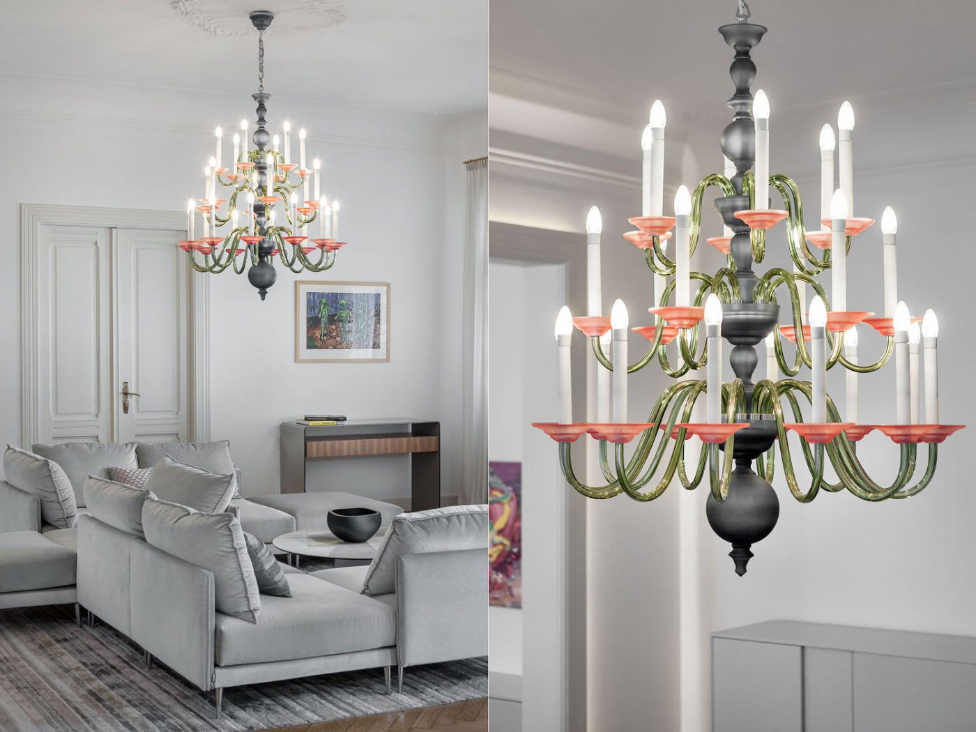 Chandelier Eugene design by Preciosa, interior and product photography Roman Mlejnek.