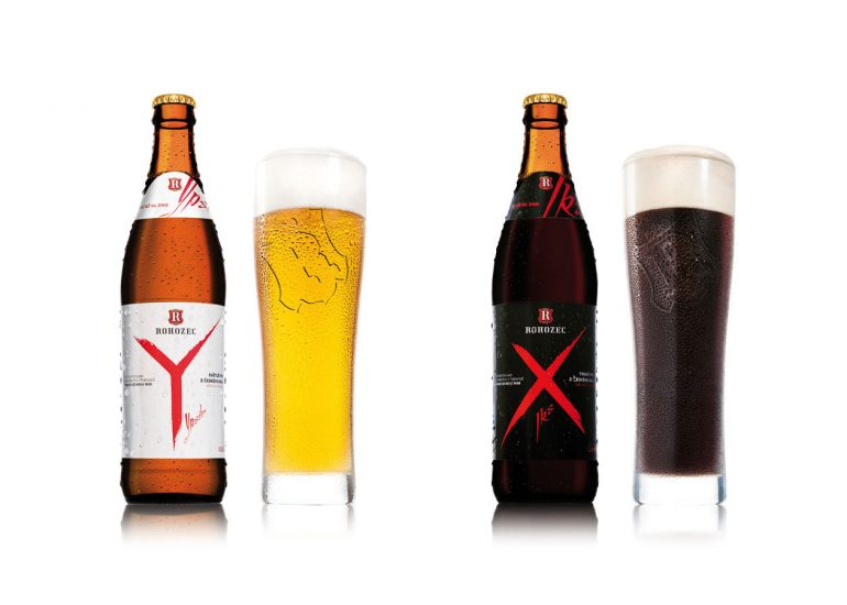 Product photography for advertising campaign XY, Rohozec brewery by Roman mlejnek, beer selection.